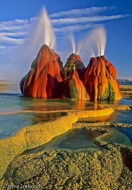 Fly geyser gerlach nv travels in the u s pinterest for Beautiful natural places in america
