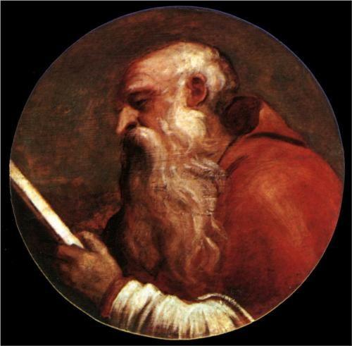 St Jerome - Titian. Date? Oil on oak panel. Santa Maria della Salute, Venice, Italy.