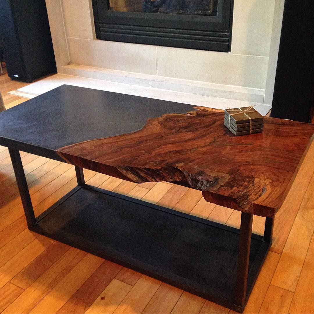 Delivered The Concrete Walnut Steel Coffee Table Today Big Thanks To Aticofurniture For The Base And Tamtam2819 For Letting Us Go Crazy Super Fun Pieces Stol