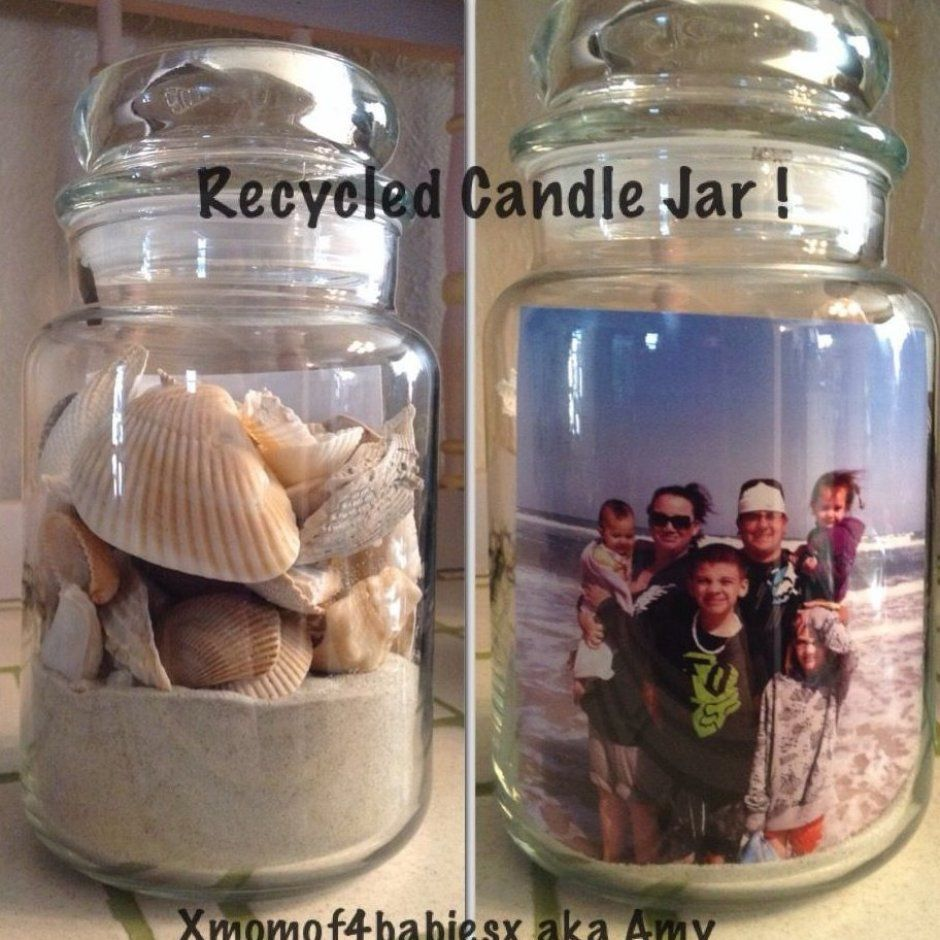 I Recycled A Yankee Candle Jar I Think It Came Out Great Candle Candles Dollar Stores Diycandle S In 2020 Yankee Candle Jars Candle Jars Candle Jars Crafts