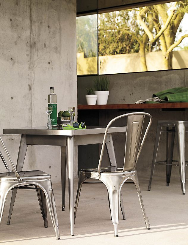 Tolix Marais Two Seater Dining Table Balcony Table And Chairs