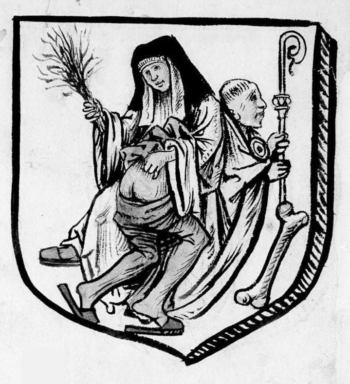 Nun Birches Priest Detail Of A Rebus De Picardie C 1500 Paris Bib Nat Ms Fr 1600 Frolicsome Friars Naughty Nuns Priest Religion Medieval