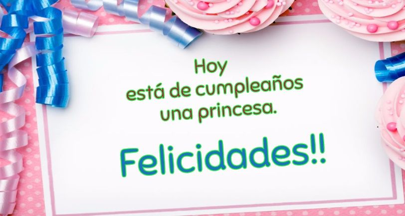 Imágenes de cumpleaños para chicas en color rosa. | Felicitaciones ...