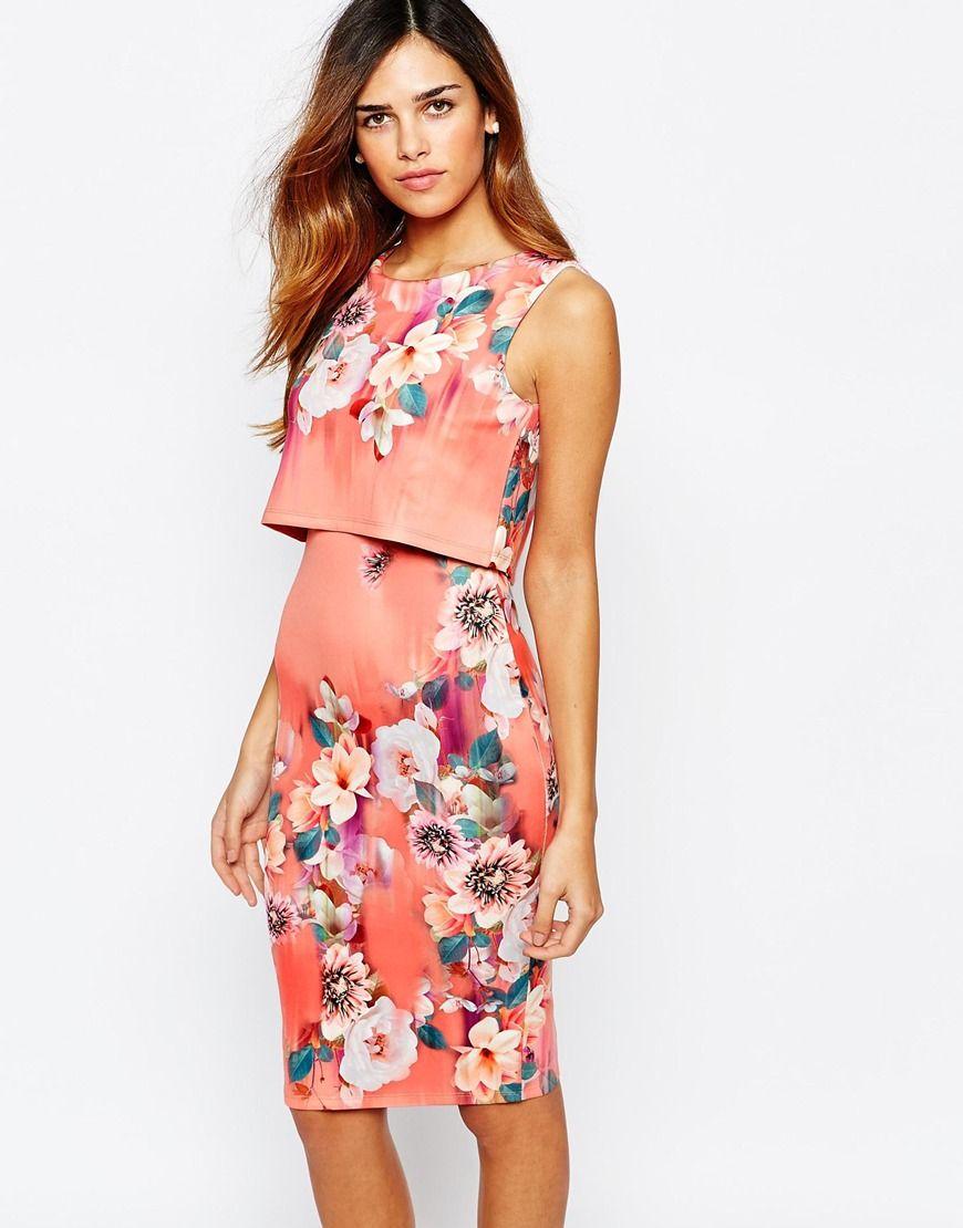 Floral print summer dress uk