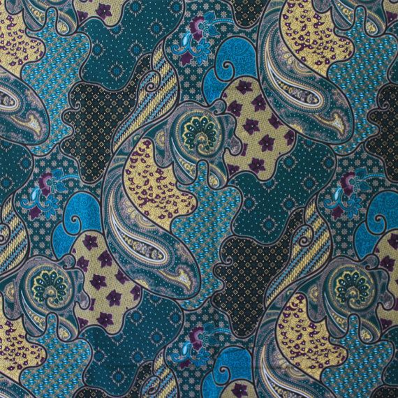 Blue Flowers Traditional Thai Batik Stylebatik By