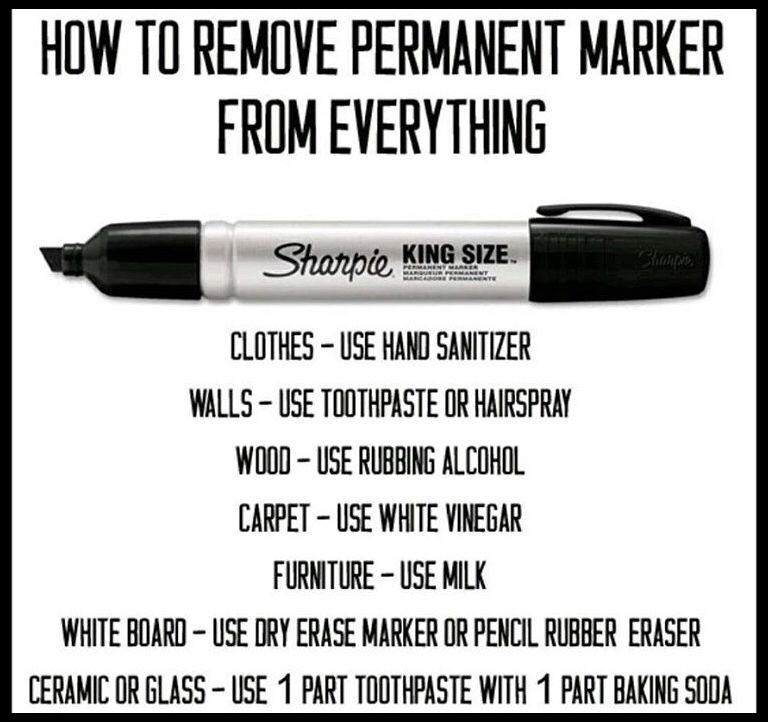 Remove Sharpie Cleaning Hacks Useful Life Hacks Laundry Hacks