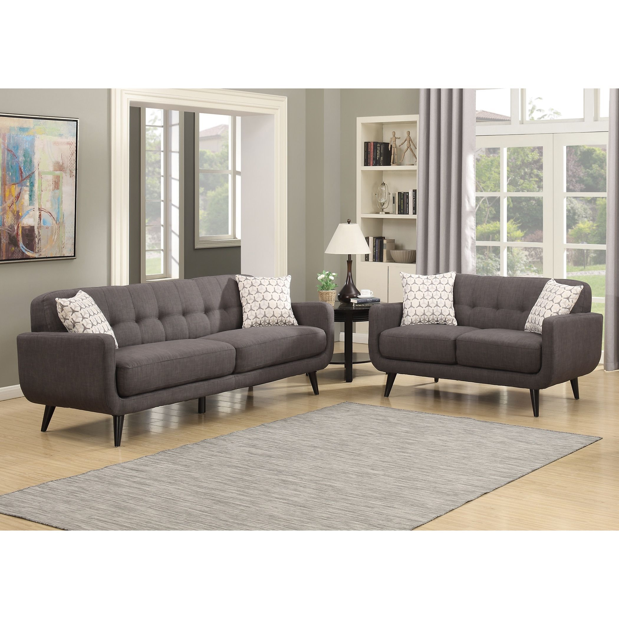 Best Ac Pacific Crystal Charcoal 2 Piece Sofa And Loveseat 400 x 300