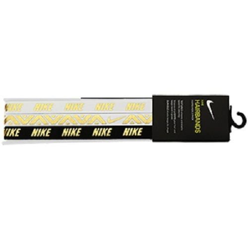 Nike Metallic Headband (AC9673-912) 3 pack Hot Brand New Sport Athletic  Apparel #Nike #Headband