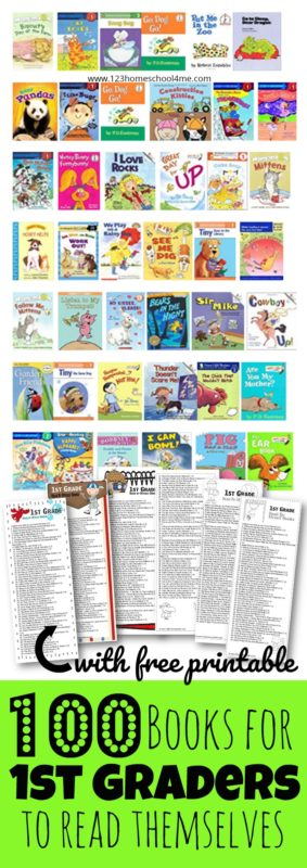 100 Books for First Graders to Read Themselves (by reading level) is part of Books for 1st graders, Books for first graders, First grade reading books, First grade books, 1st grade books, First grade reading - Grab our FREE printable list of 100 books for 1st graders! The secret to getting kids EXCITED about reading is to pick GREAT books!