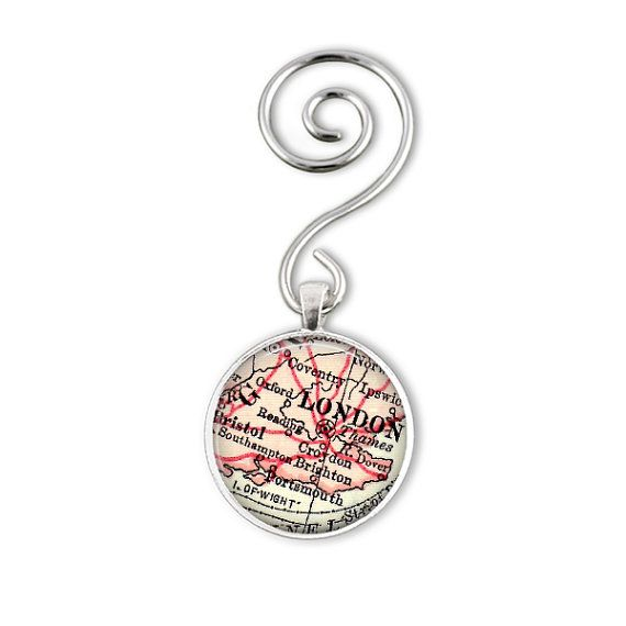 London Map Ornaments make great gifts for by LocationInspirations