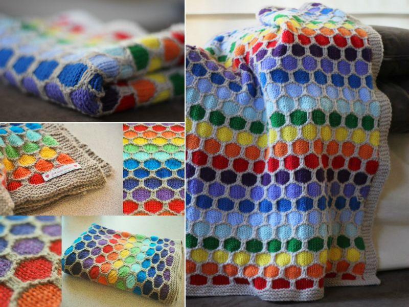 Entrelac Blanket Pattern Free Video Tutorial Best Ideas | Honeycombs ...
