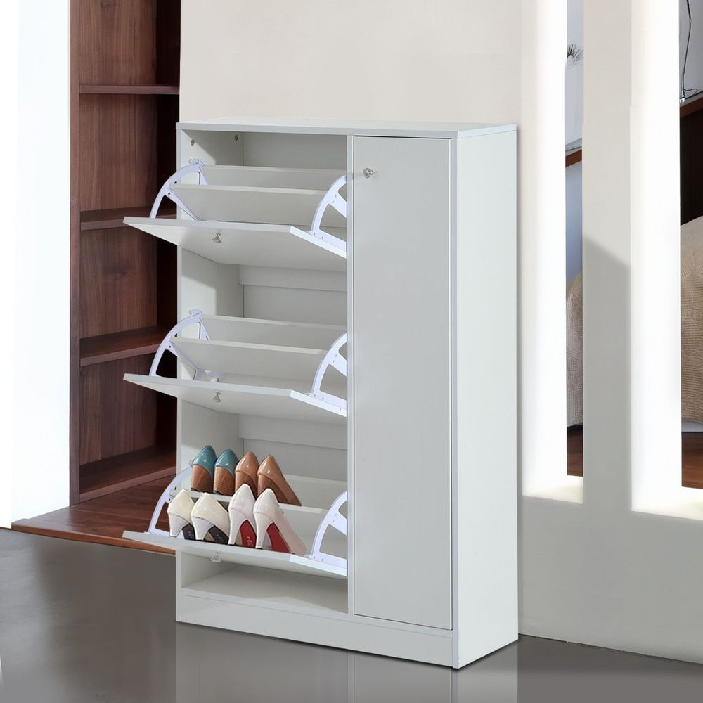 modern shoe cabinet entryway storage with wooden chest on shoe rack wooden with door id=35994