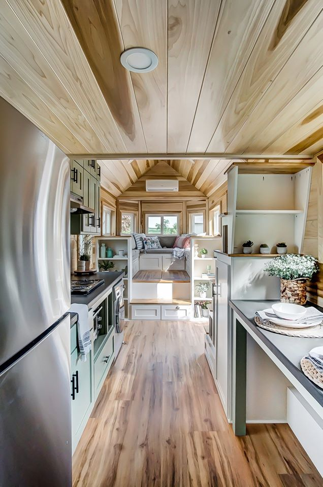 From home offices to full-time living, #tinyhomes offer many a way to live big in a small space ☀  Photo: Modern Tiny Living  #tinyhomes #tinyhouse #tinyhome #tinyhousemovement #tinyliving #tinyhouselife