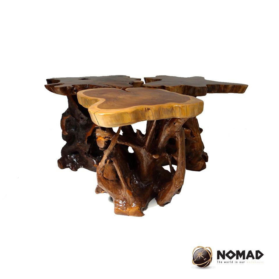 Taburetes Hechos Con Troncos De Madera De Teca Muebles Nomad  # Muebles Cebollero