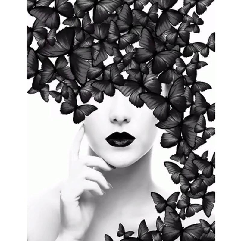 картина бабочки черно белые круг: 8 тыс изображений ...