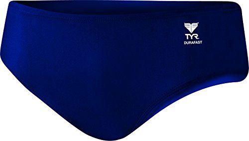 YR Men's Durafast Elite Solid Racer Swim Suit