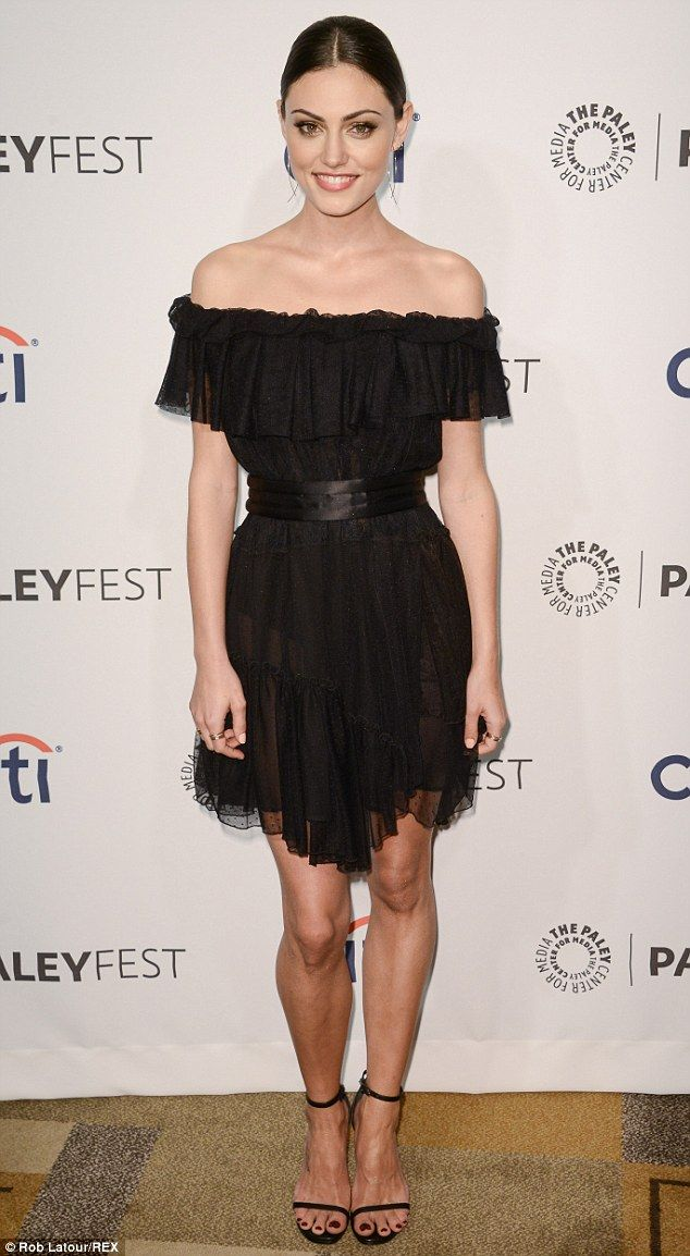 88bf13c3016 Beauty in black  Phoebe Tonkin donned a Camilla And Dress gypsy-style dress  as she attended the PaleyFest 2014 Originals Presentation held at The Dolby  ...