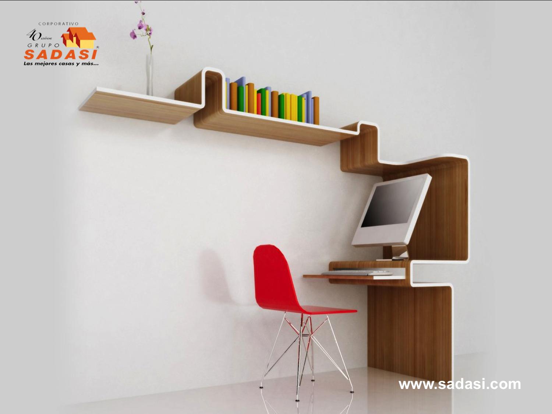 #conjuntosintegrales LAS MEJORES CASAS DE MÉXICO. Los escritorios minimalistas son muebles indispensables, tanto en su oficina como en el estudio de su casa. Estos le permitirán ambientar cada detalle del mismo y acentuar este estilo con sus diseños característicos, dando lugar a un entorno relajante. En Grupo Sadasi, le daremos todo tipo de facilidades para que pueda ejercer su crédito INFONAVIT y adquirir su nuevo hogar con nosotros. 01(800)10801080.