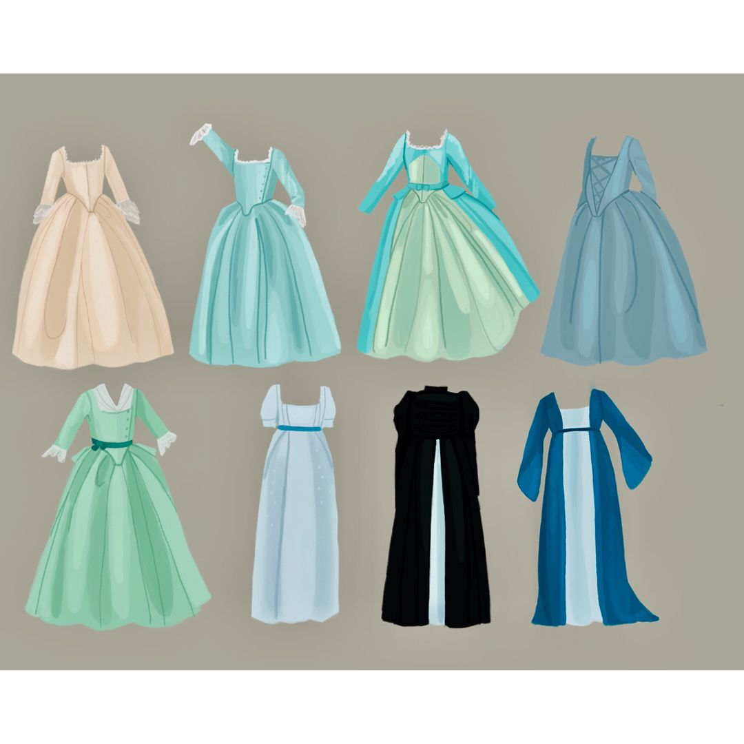 "Hamilton Schuyler Sisters 18/""~Eliza Angelica or Peggy~ Choose 1 Doll Dress"