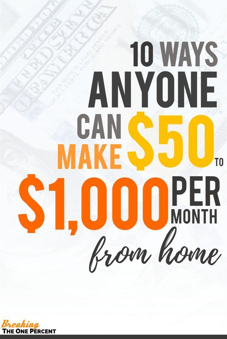 Make money from home with this list of 10 side hustle ideas! Earn ...
