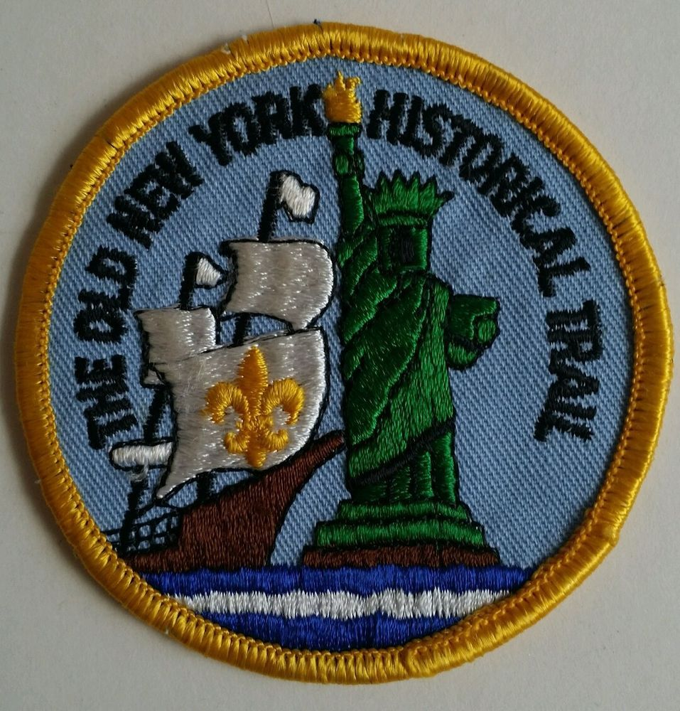 Vintage boy scout the old new york historical trail patch bsa in vintage boy scout the old new york historical trail patch bsa in collectibles historical memorabilia fraternal organizations buycottarizona