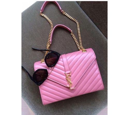 Ysl Designer Handbag Dope Baby Pink Gold Fashion Accessories Sungl