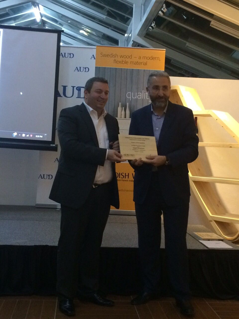 Saad Moaswes Managing Director Bond Interiors Receiving A