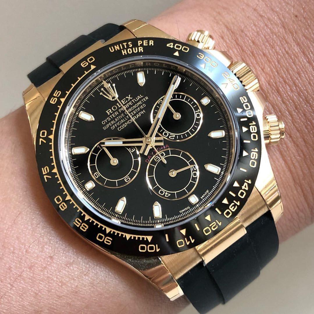 Rolex New Daytona 116518ln Black Dial Yellow Gold Watch In 2020 Rolex Rolex Models Rolex Passion
