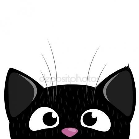 Photo of Firmar en curioso gato mirando hacia abajo – fondo – ilustración de alta resolución …