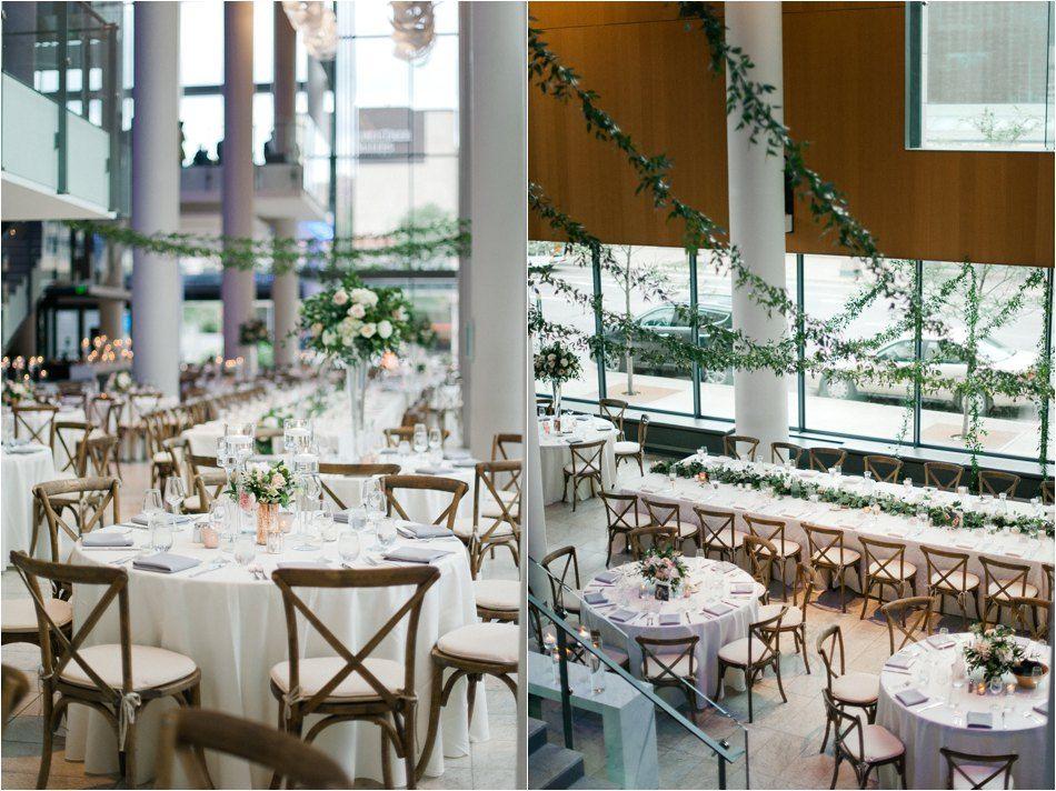 Minnesota Orchestra Hall Wedding Blush And Greenery Minneapolis Mn Wedding Coordination By Lasting Impressions Weddings Wedding Orchestra Hall