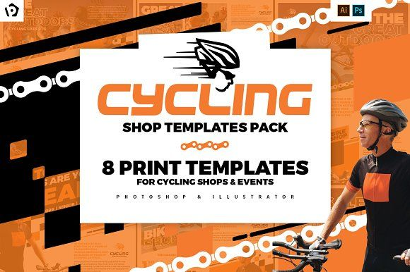 Cycling Shop Templates Pack Flyer Template Template And Poster Ideas