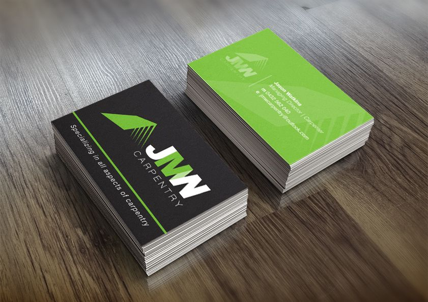 Jmw Carpentry Business Card Design Our Work Oraco Marketing Business Card Design Card Design Carpentry