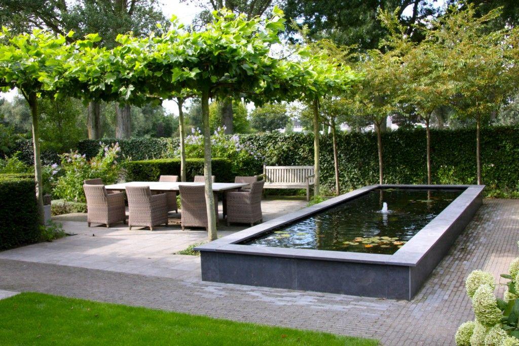 Rechthoekige Vijver In Landelijke Tuin   Rectangle Pond In Country Garden ♥  Fonteyn