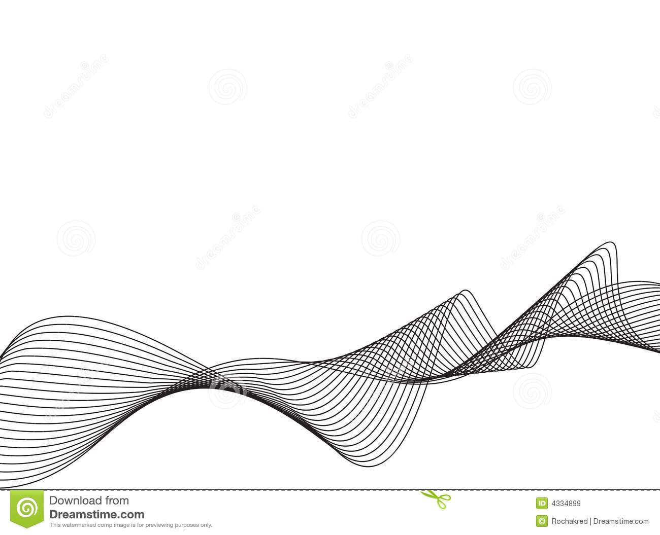 Drawing Vector Lines In Photo : Vector line art waves g s