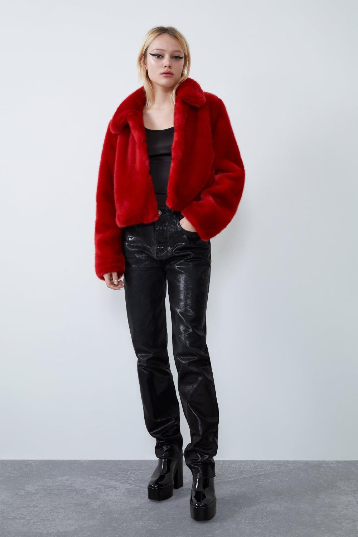 Faux fur jacket Fur jacket outfit, Fur jacket, Jackets