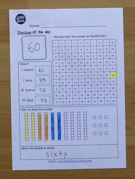 Free number of the day activity. Download the free number worksheet ...