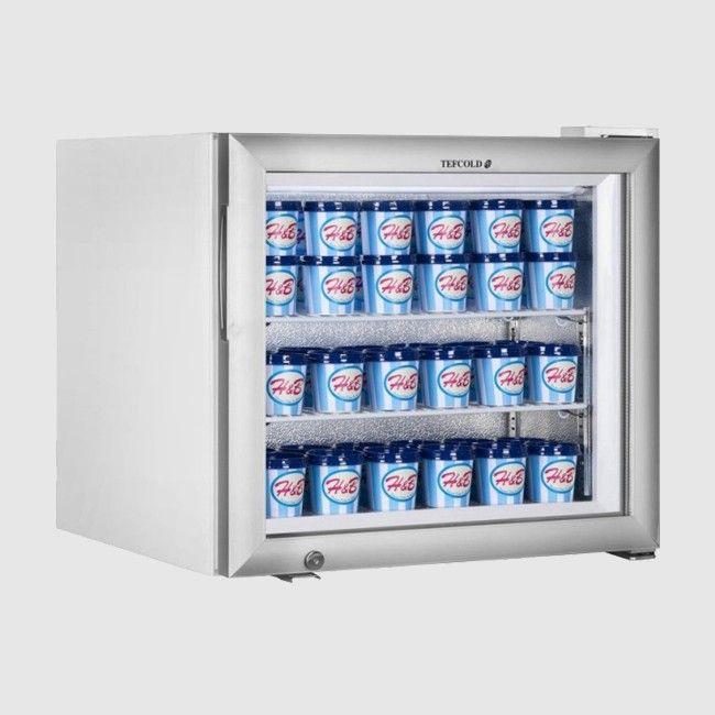Tefcold Uf50g Countertop Glass Door Display Freezer 50 Ltr Counter Top Displays And Doors