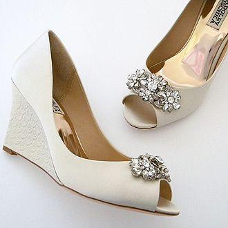 Badgley Mischka Dara Ivory Bridal Wedges Bridal Shoes Wedges Wedge Wedding Shoes Wedding Shoes