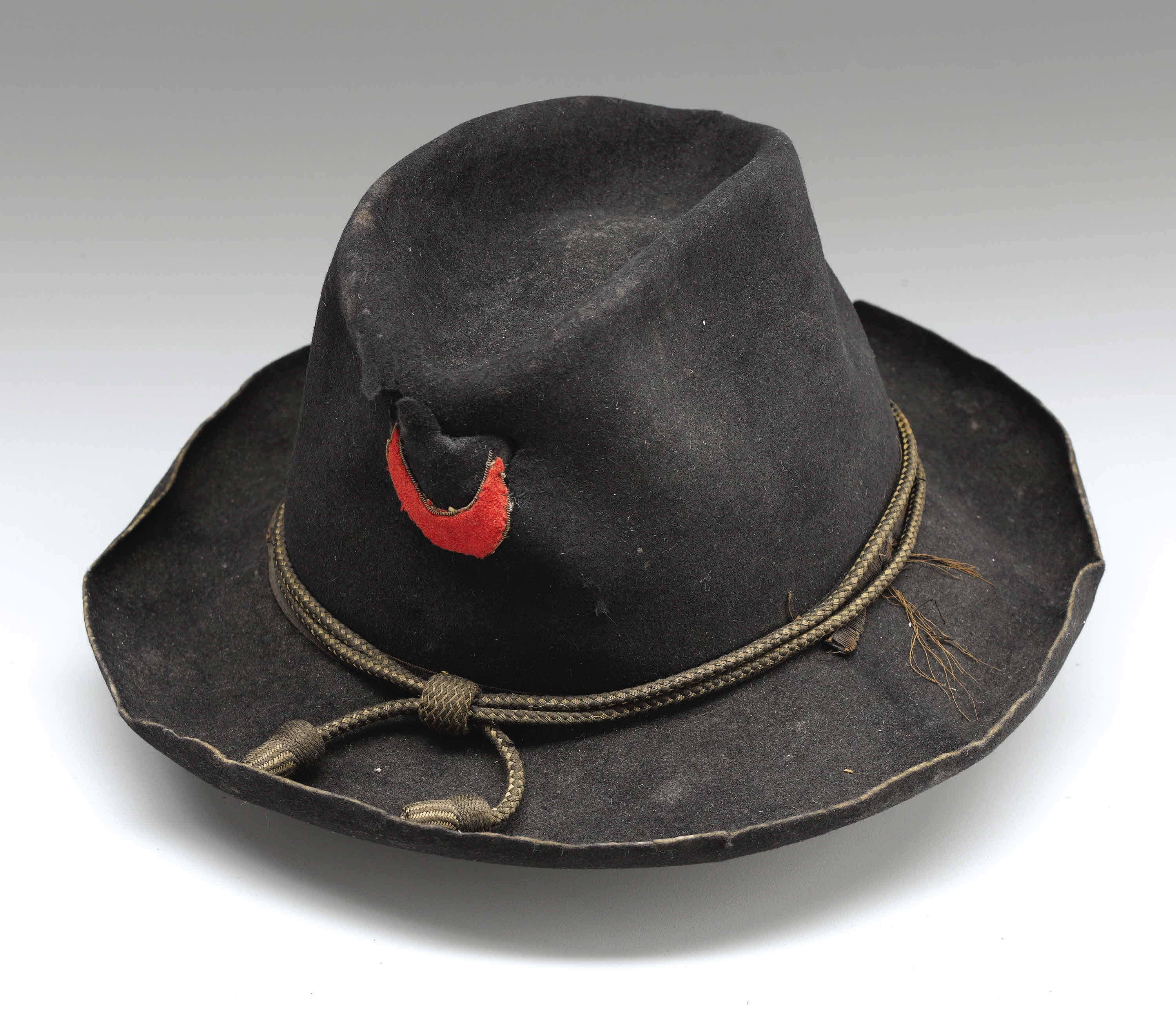 Union Officer S Slouch Hat Stiched To The Front Is The Badge Of The Eleventh Corps First
