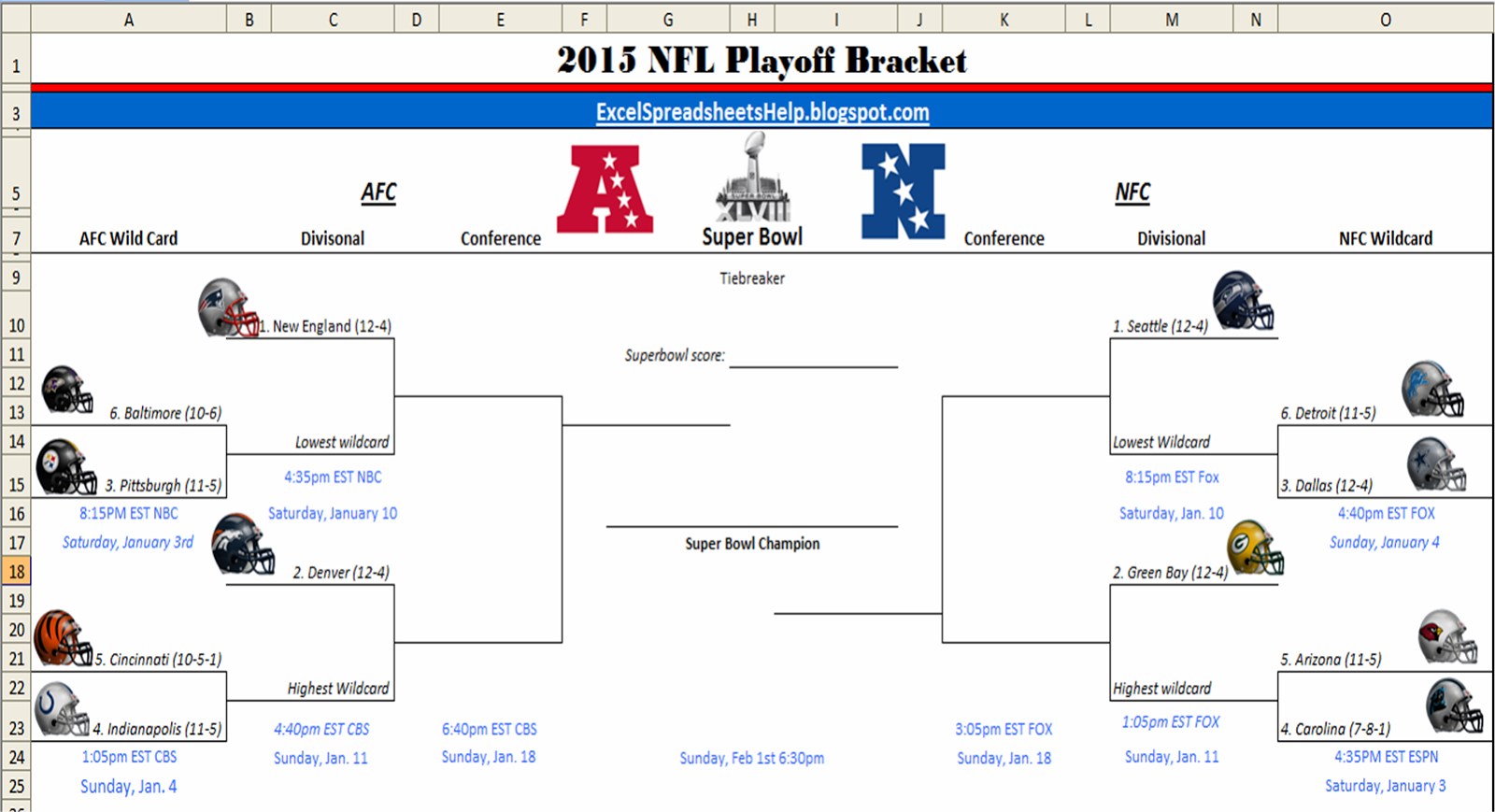 Excel Spreadsheets Help Printable 2015 Nfl Playoff Bracket Nfl Playoff Bracket Nfl Playoffs Nfl
