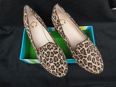 e8d6637bbc41 NEW C Wonder Pair Size 9.5 Leopard Print Needlepoint Loafer NEW WITH BOX NO  LID