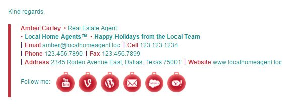 Make your own Christmas email signature template design with Email - email signature template