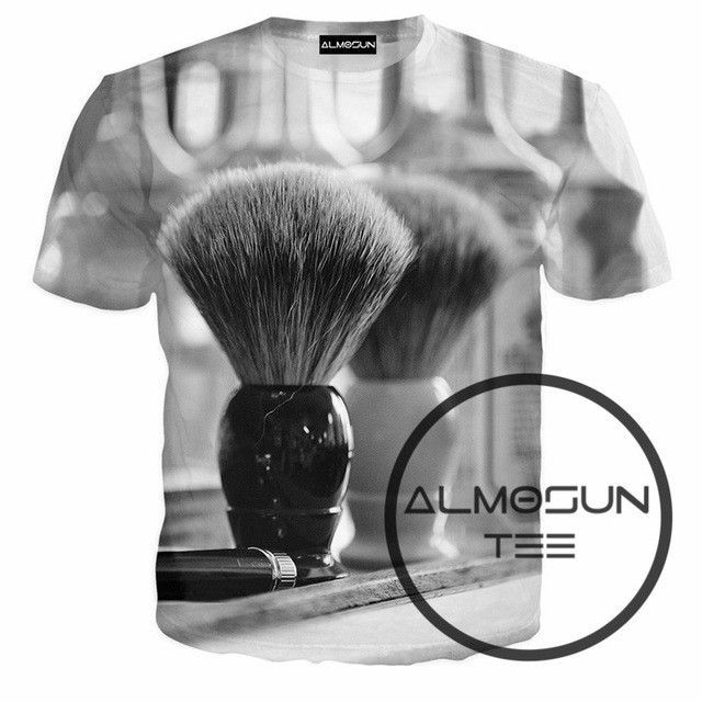Barbering is a life 3D Print T Shirts