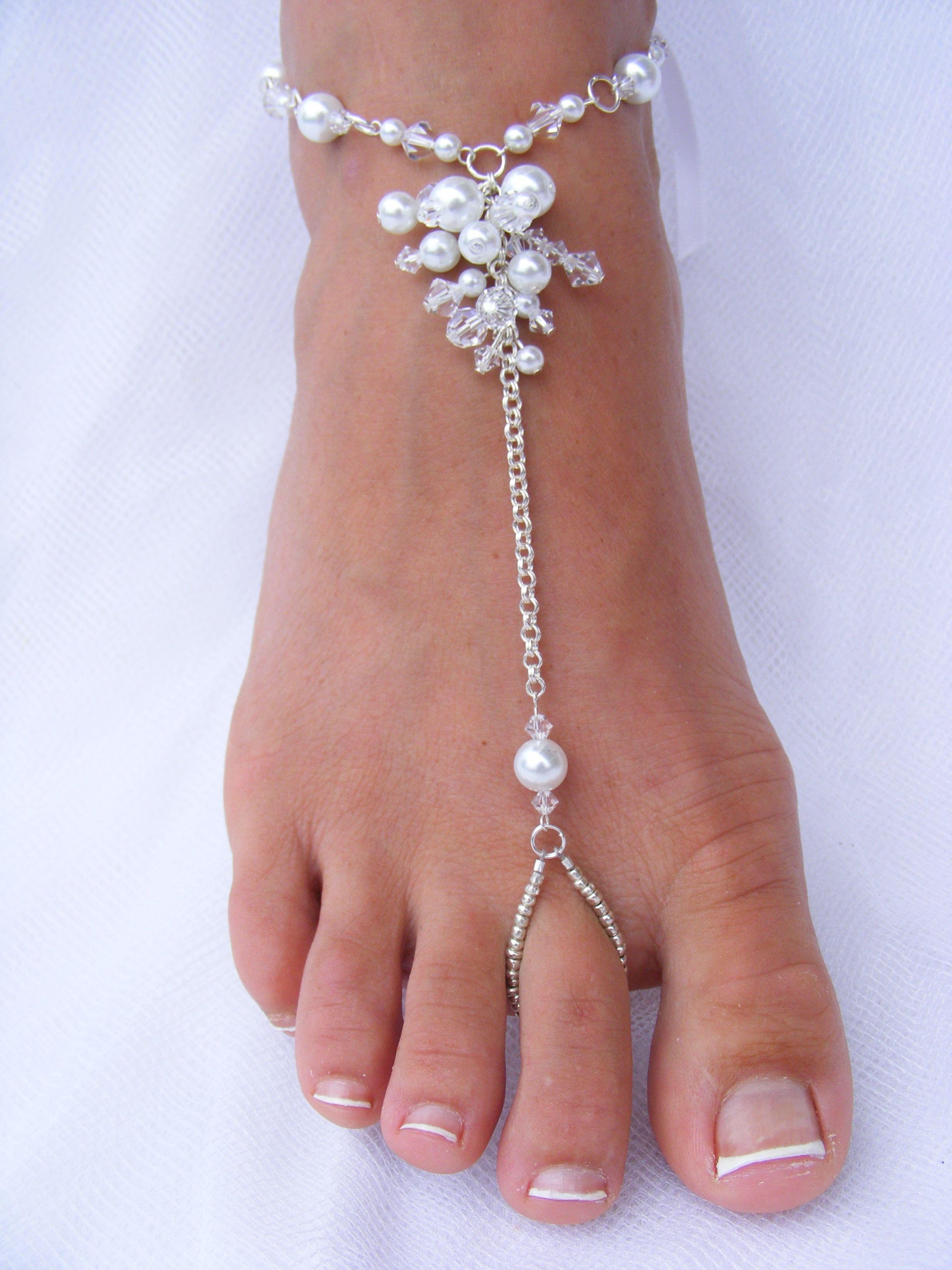 Barefoot Sandals Beach Wedding Bridal Jewelry