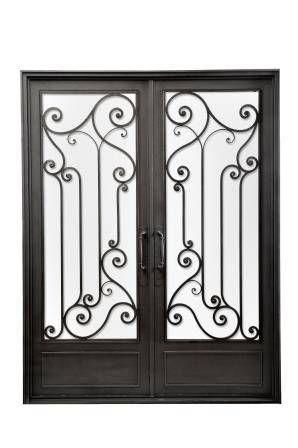 Puerta de entrada de hierro forjado casas de estilo cl sico por del hierro design in 2018 yo - Puertas de hierro para patios ...