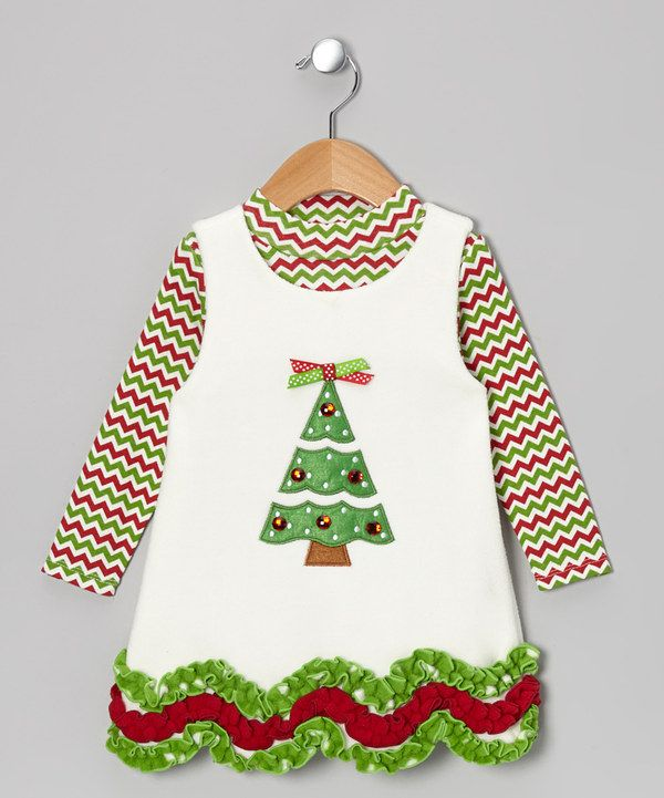 Take a look at this Ivory & Green Tree Top & Fleece Jumper - Infant & Girls on zulily today!