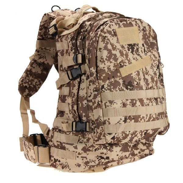 87e7911a5d15 55L 3D Outdoor Sport Military Tactical Backpack Rucksack Bag for Camping  Traveling Hiking Trekking