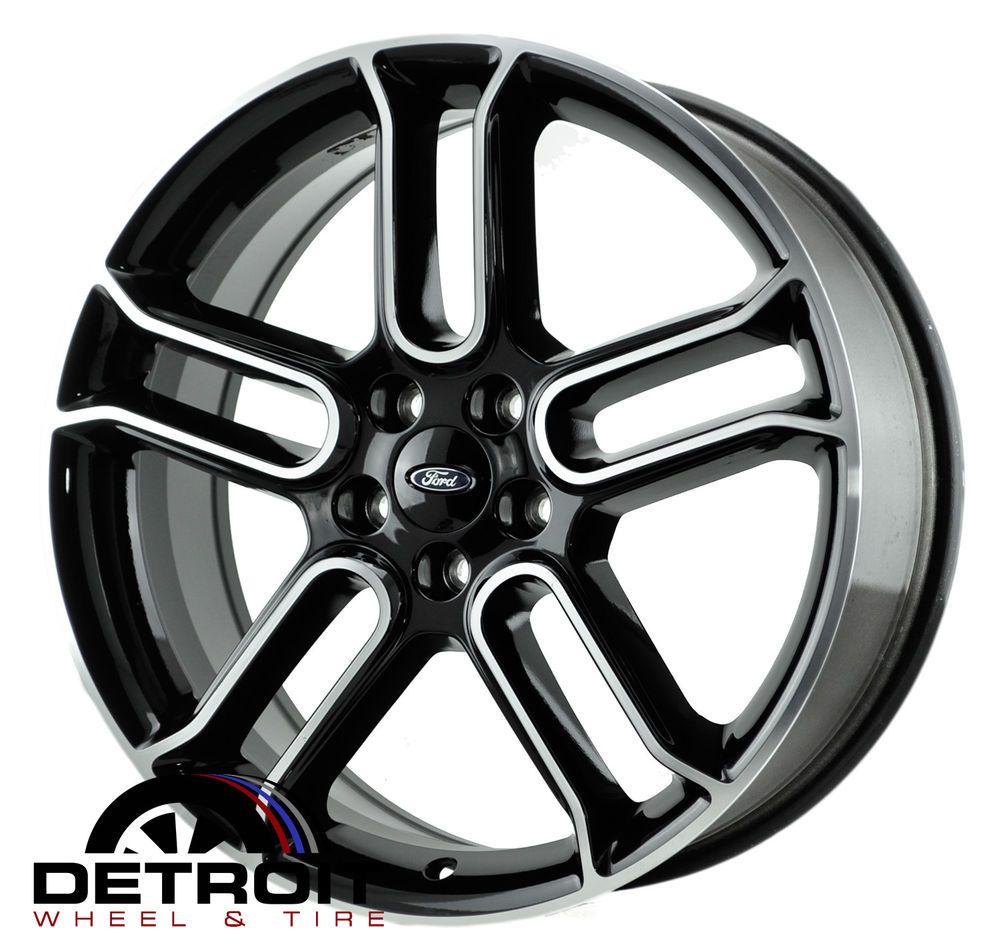 Ford Edge Flex Factory Wheel Rim 3903 Machined Black 2013 2014