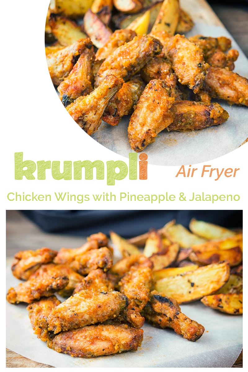 Air Fryer Chicken Wings With A Pineapple And Jalapeno Recipe Cooked Chicken Recipes Chicken Wings Air Fryer Chicken