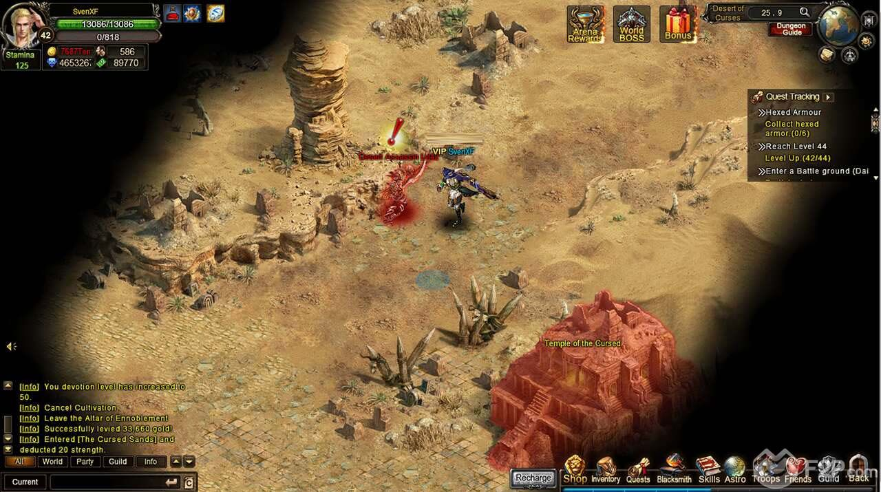 Wartune Review , Free tp Play Browser MMORPG Game
